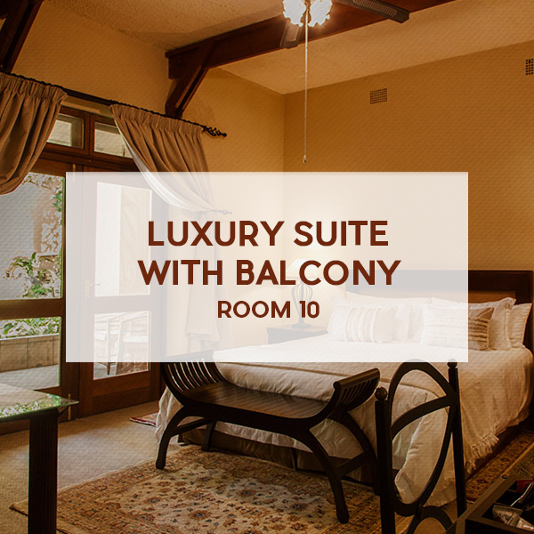 Luxury suite with balcony