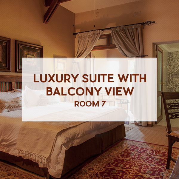 Luxury suite with balcony view