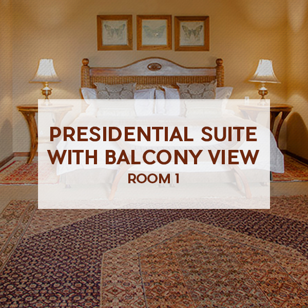 Presidential suite with balcony view